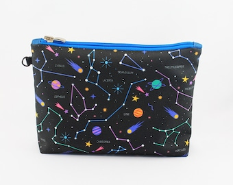 Constellation Zodiac Cosmetic Bag Makeup bag Zipper pouch Accessory bag Travel bag Pencil Case Toiletry bag Cosmetic Case