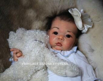 Asian baby reborn doll AKINA by Adrie Stoete.