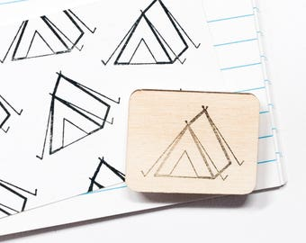 Tent rubber stamp, camping stamp, outdoor, rubber stamps, scrapbooking, card making, gift tags, DIY, camp, summer camp, studiomaas