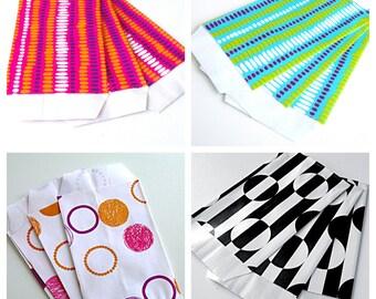 30 pockets 7 cm * 12 cm multicolor Kraft gift bags