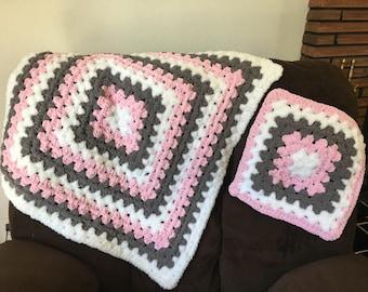 Plush Baby Blanket Set