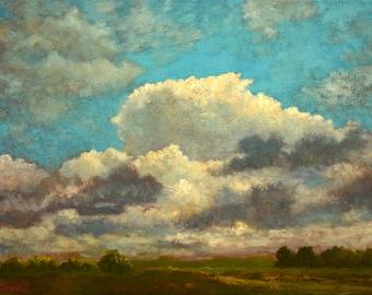 Oil Painting Original Landscape Clouds Sky – ON CLOUD NINE by Jody Stephenson