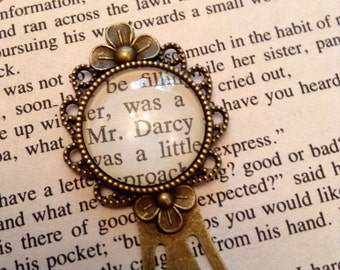 Mr Darcy Bookmark / Jane Austen Gift / Pride and Prejudice Book Mark / Bookmark / Book Lover Gift / Bookish Gift / Reader Gift