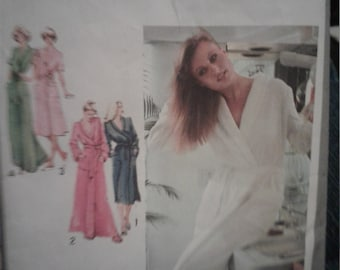 Vintage 70s Simplicity Pattern 9220 Size 14 Cut Robe with Four Views