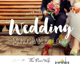 Custom Wedding Logo Design Wedding Monogram Logo Design Save the Date Wedding Design Logo Design Custom Monogram Design Custom Wedding Logo