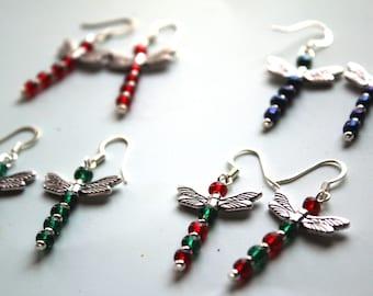 Dragonfly Earrings - Various colors