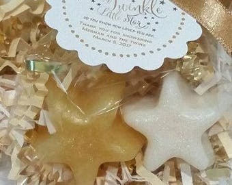10 Twinkle Little Star Soap Favors  Baby Shower 1st Birthday Sip and See Party Favors