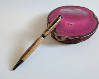 Hand crafted zebra wood pen