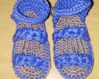 Crocheted sandals.