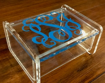 Personalized Acrylic Jewelry/Trinket 3.5x3 Box with Lid