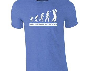 Golfing - Evolution of man T-shirt