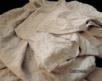 Havermout linnen vel linnen lakens platte linnen blad natuurlijke vlakke blad beddengoed. Queen, koning Twin één volledige dubbele organische 100% vlas