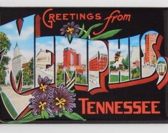 Greetings from Memphis Tennessee Fridge Magnet