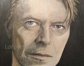 Starman David Bowie Original Fan Art peinture