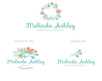 Blog header | Website logo | Business logo | Photography logo design | Custom premade logo | Calligraphy logo | Floral logo design | mbp8