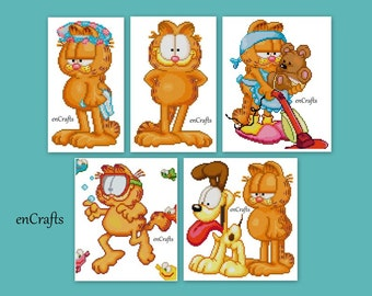 Garfield 5 cross Stitch Patterns