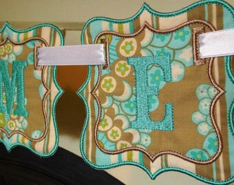 """Fancy Square Banner In The Hoop Banners Machine Embroidery Designs Applique Patterns all done In-The-Hoop in 4 sizes 4"""", 5"""", 6"""" and 7"""""""