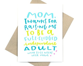 funny mother's day card - adult