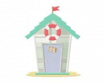 Beach House Available In Both Applique and Stitched