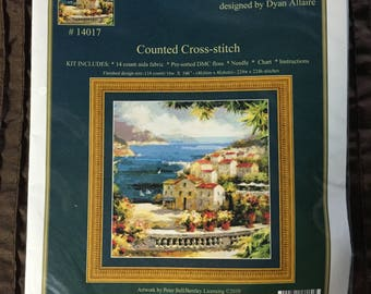 "Kustom Krafts Inc.  ""Harbor Vista"" Counted cross-stitch KIT #14017"
