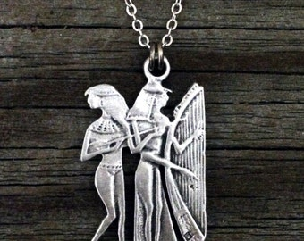 Egyptian Musician Necklace | Egypt Jewellery | Ancient Egypt | African Egyptian | Egyptian Jewelry | by Treasure Cast Pewter