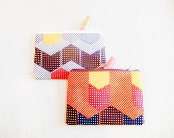 Make Up Bag/ Mothers Day Gift/ Gift for Her/ Gift for Wife/ Sister Gift/ Birthday Gift/ African Print Pencil Case/ Best Friend Gift/ Pouch