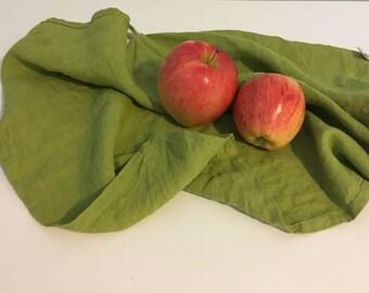 Linen Kitchen Towel - set of 2. Linen dish towel. Linen tea towel. Linen hand towel - Avocado green