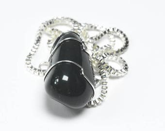 Custom Tumbled Bloodstone Pendant and Necklace - Choose Sterling Silver Chain or Leather Cord - Quantity of 1