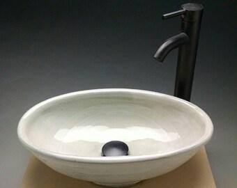 Custom Oval Handmade Pottery Vessel Sink, Designed for your Bathroom Remodeling- Made To Order