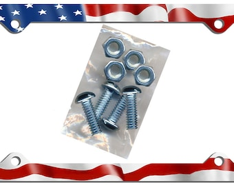 USA Flag License Plate Frame Gifts Girls Ladies Men Plate Holder American Flags United States