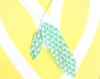 Green Washi Tape Feathers Bookmarks/Journals