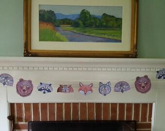 Woodland Animal Garland / Halloween Decoration