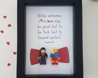 Superman Gift Superwoman Wonderwoman Lois Lane Lego Wedding / Birthday / Anniversary Wife Boyfriend Husband Girlfriend wedding present