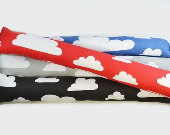 Retro Scandinavian Clouds fabric Kids/nursery Draught excluders -  Farg Form Clouds