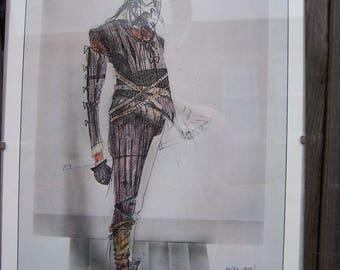 RSC costume design print 1970s