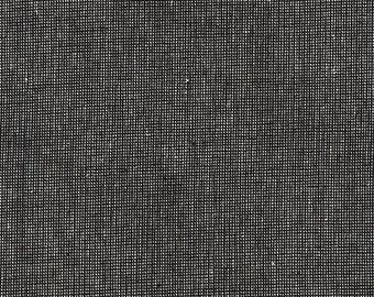 Pepper Essex Yarn Dyed Homespun - Robert Kaufman - Black Grid
