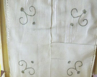 Vintage Firenze Embroidered Linen Tea Napkins - Made in  Italy