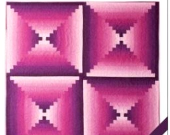 OMBRE COURTHOUSE STEPS - Easy Quilt - All Straight Seams!     By: Hunter's Design Studio   hds.057