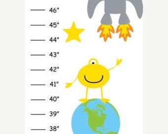 Personalized Out of this World Space Canvas Growth Chart