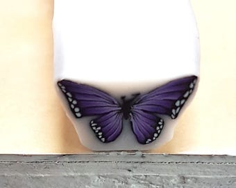 Purple Butterfly Cane, Polymer Clay Flutterby Cane, Raw or Unbaked  Clay, Plum Purple