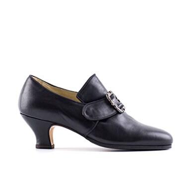Chaussures femme en cuir cuir cuir noir PAOUL Francesca 18ème siècle de style 704D_50T 9ac2f5