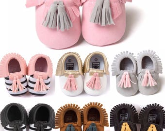 Tassel Baby Booties - Baby Moccasins - Baby Gift - Baby Accessories - Baby Shoes