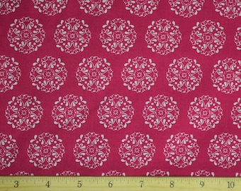 Pink Medallions Fabric-Pre cut-100% Cotton