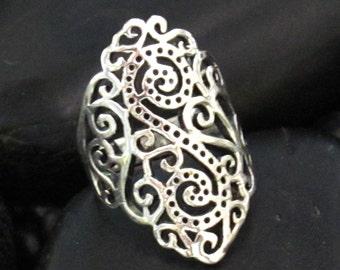 Ornate Bali Scroll Design in Sterling Silver .925