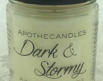 Dark & Stormy Pure Soy Wax Candle