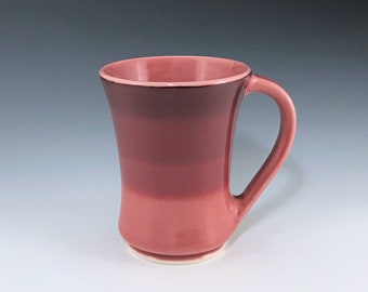 Red Ceramic Mug, Ceramic Coffee Mug, Large Ceramic Mug, Cranberry Red Porcelain Mug, Ceramic Coffee Cup, Tea Mug, Wheel Thrown Pottery Mug