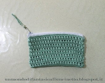 crocheted shoulder bag, woman's purse, compartment cell phone, wallet