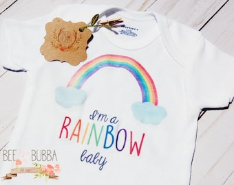 I'm A Rainbow Baby Onesie ®, Rainbow Baby Shower Gift, Miracle Baby Bodysuit, Pregnancy Announcement, Cute Baby Clothes, Take Home Outfit