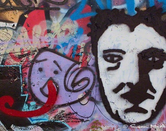 Graffiti Photograph, Urban Art, Street Art Photography, Wall Art, Home Decor, Office Decor, Archival Print,  Modern, Edgy, Purple, Black