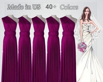 Long bridesmaid dress infinity bridesmaid dress long infinity dress multiway dress Wedding Dress bridesmaid convertible wrap dress